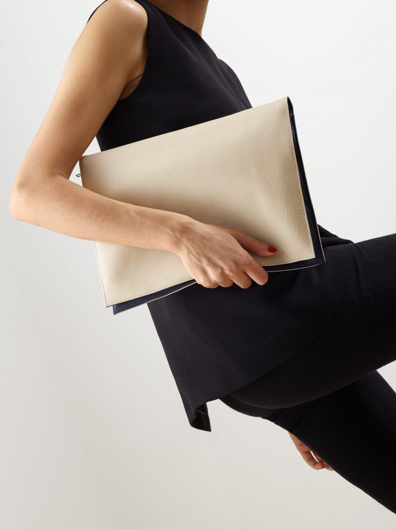 OTHER ONE pouch bag in ivory calfskin leather | TSATSAS
