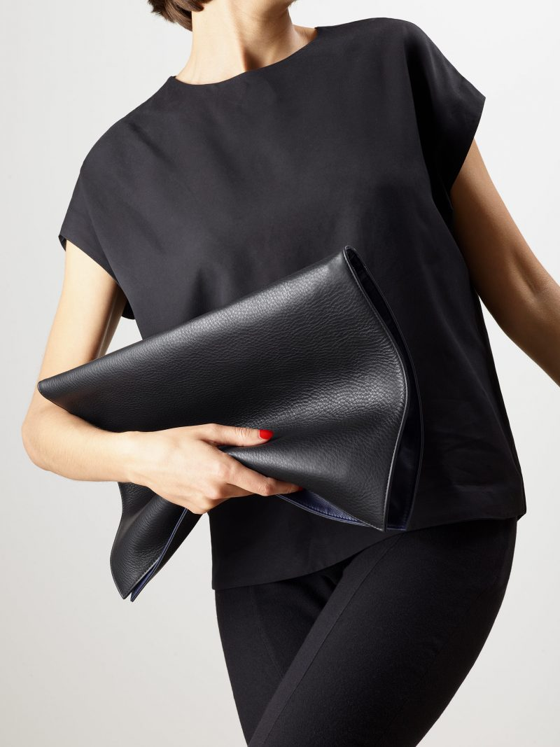 OTHER TWO pouch bag in black calfskin leather | TSATSAS