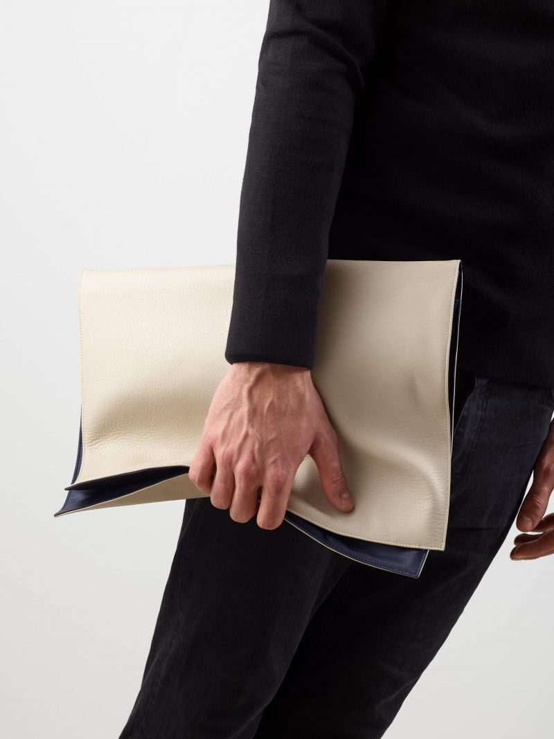 OTHER TWO pouch bag in ivory calfskin leather | TSATSAS