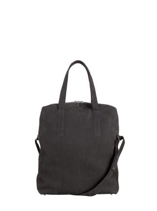 POLLOCK tote bag in black grey nubuck leather | TSATSAS