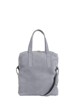 POLLOCK tote bag in medium grey nubuck leather | TSATSAS