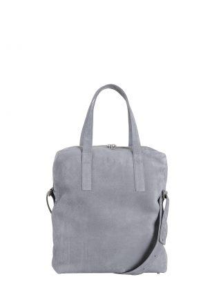 POLLOCK tote bag in medium grey nubuck leather | TSATSAS