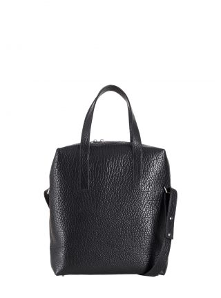 POLLOCK tote bag in black bison leather | TSATSAS