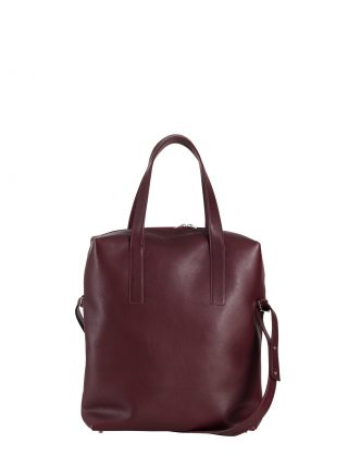 POLLOCK tote bag in burgundy calfskin leather | TSATSAS