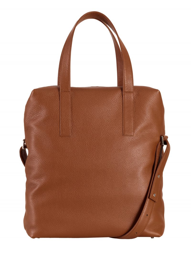POLLOCK tote bag in tan nubuck leather | TSATSAS