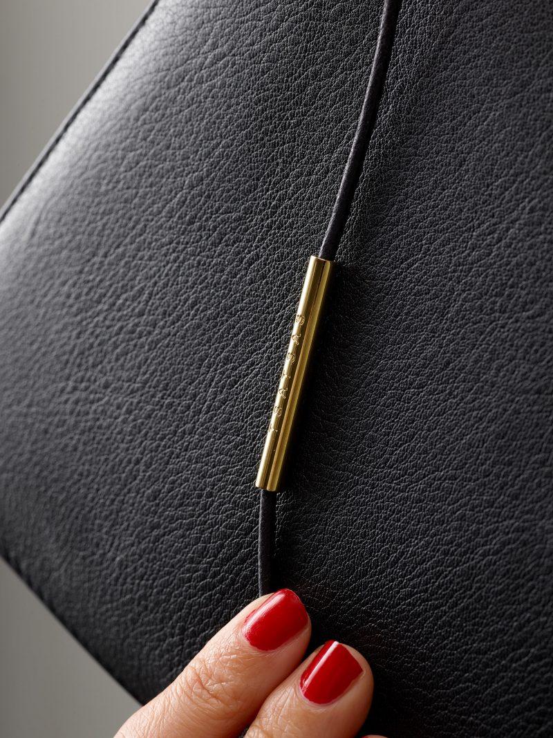 RE-OTHER shoulder bag in black calfskin leather | TSATSAS