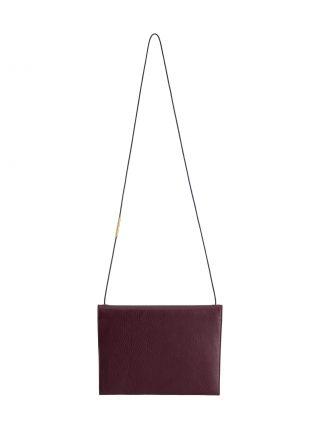 RE-OTHER shoulder bag in burgundy calfskin leather | TSATSAS