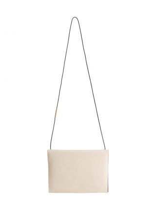 RE-OTHER shoulder bag in ivory calfskin leather | TSATSAS