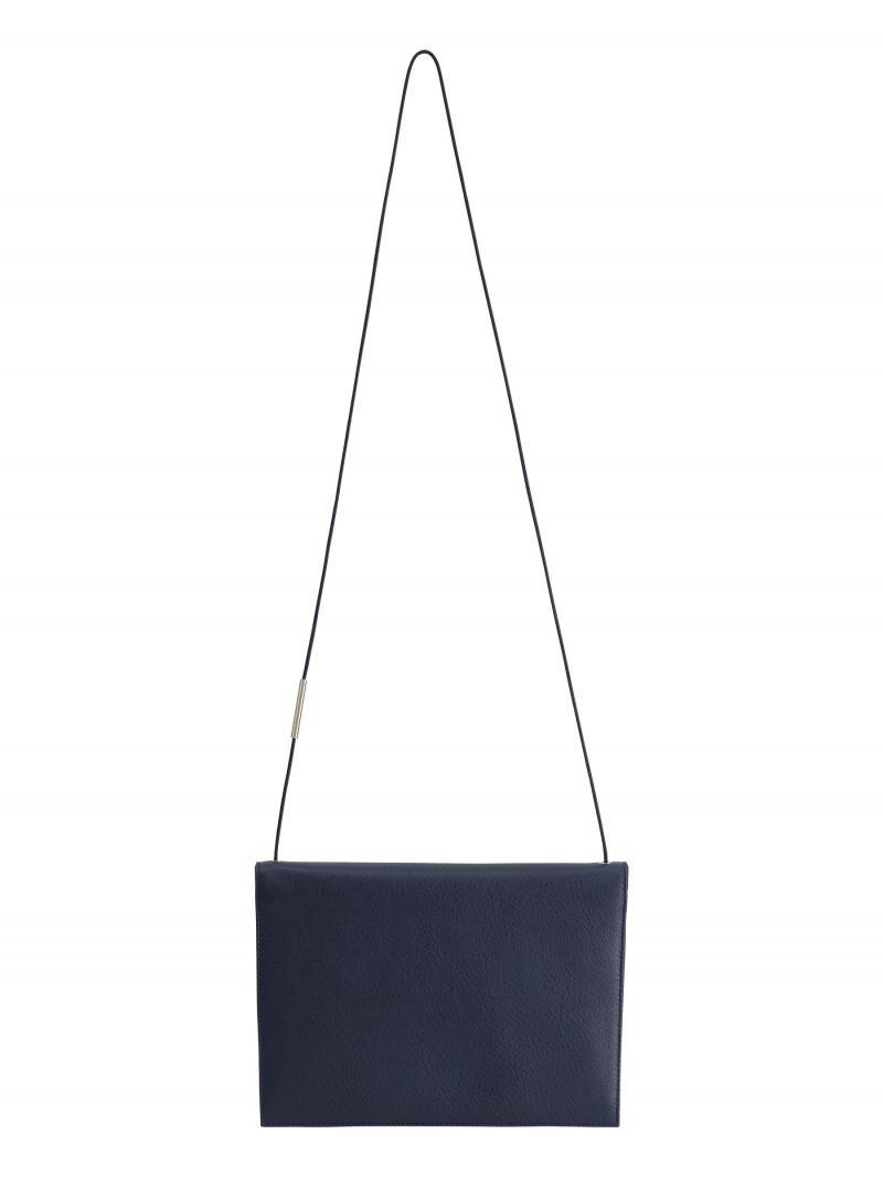 RE-OTHER shoulder bag in navy blue calfskin leather | TSATSAS