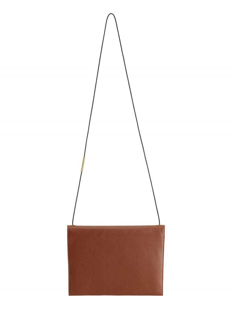 RE-OTHER shoulder bag in tan calfskin leather | TSATSAS