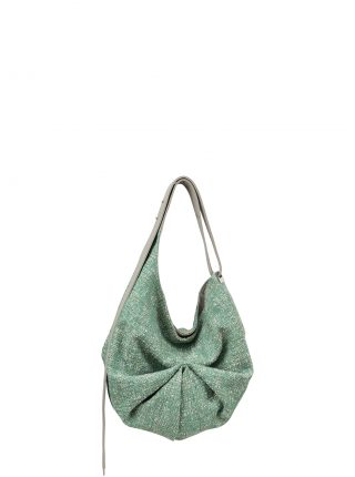 SACAR S SO_FAR shoulder bag in concrete grey calfskin leather | TSATSAS