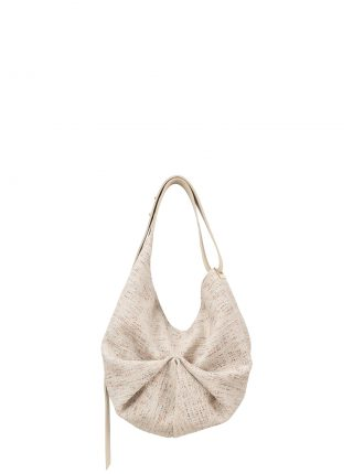 SACAR S SO_FAR shoulder bag in ivory calfskin leather | TSATSAS