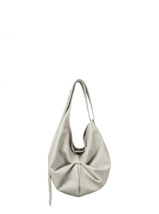 SACAR S shoulder bag in concrete grey calfskin leather | TSATSAS