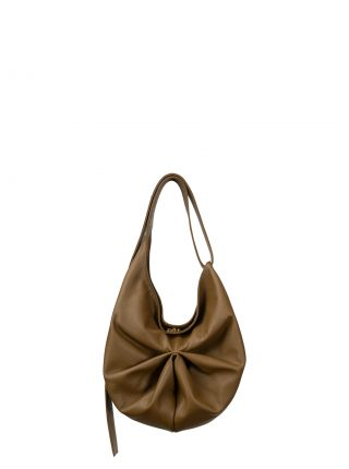 SACAR S shoulder bag in olive brown calfskin leather | TSATSAS