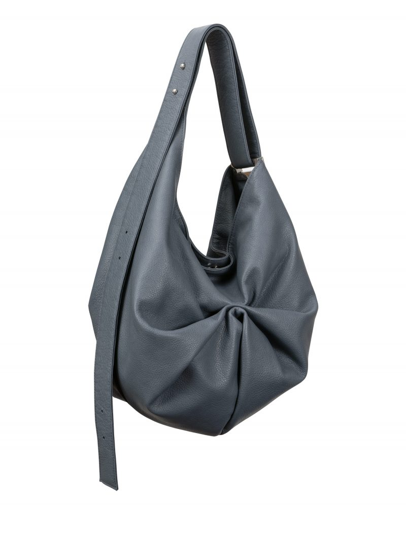 SACAR S shoulder bag in slate blue calfskin leather | TSATSAS