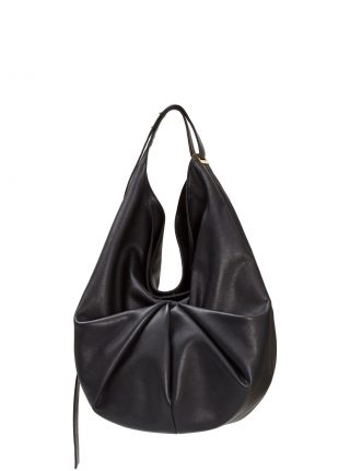 SACAR shoulder bag in black calfskin leather | TSATSAS