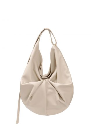 SACAR shoulder bag in ivory calfskin leather | TSATSAS