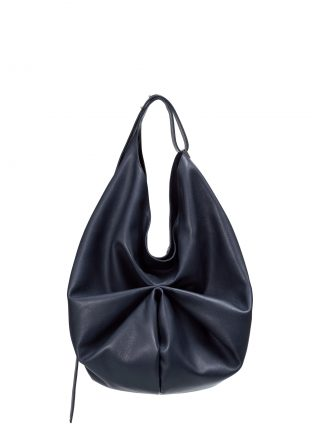 SACAR shoulder bag in navy blue calfskin leather | TSATSAS