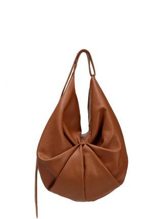SACAR shoulder bag in tan calfskin leather | TSATSAS