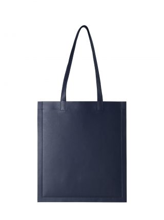 STRATO shoulder bag in navy blue lamb nappa leather | TSATSAS