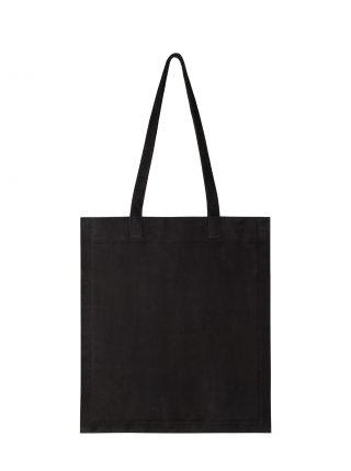 STRATO shoulder bag in black goat suede leather | TSATSAS