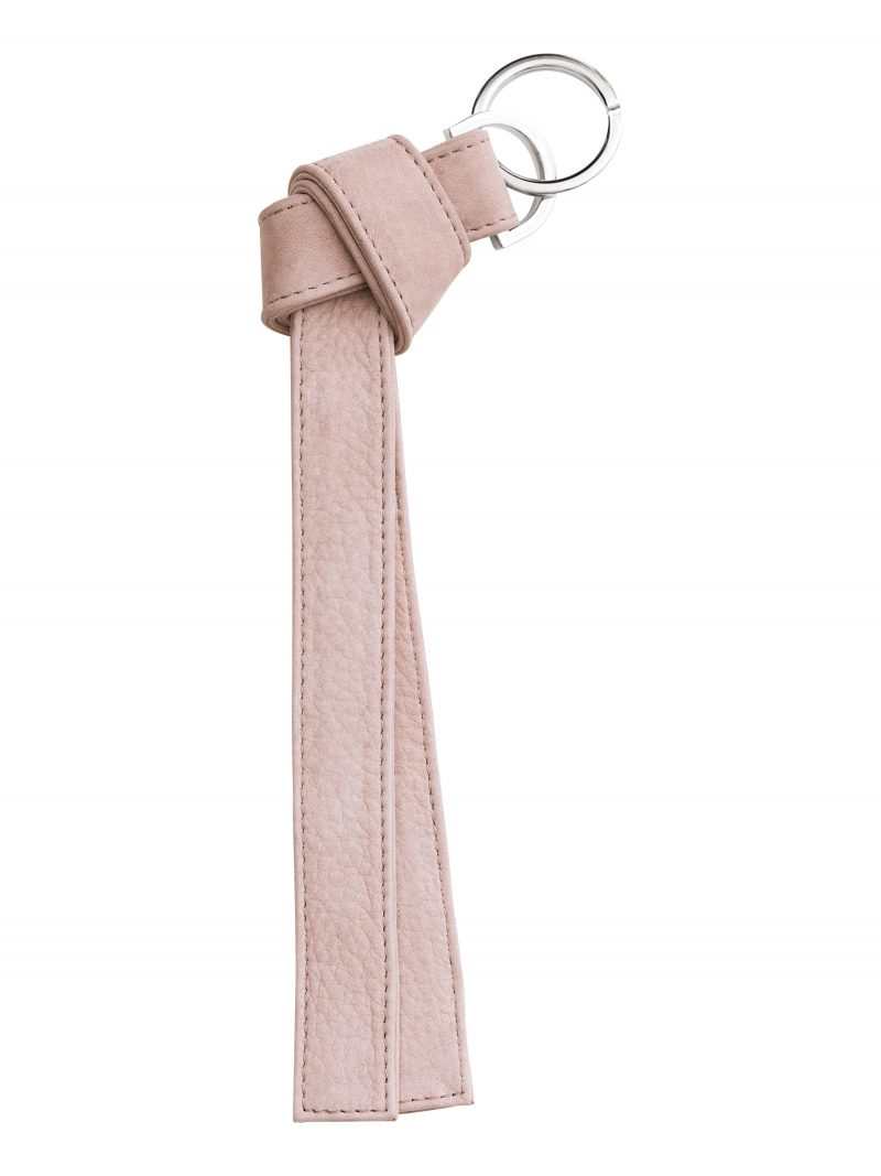 TAPE K keychain in blush pink nubuck leather | TSATSAS