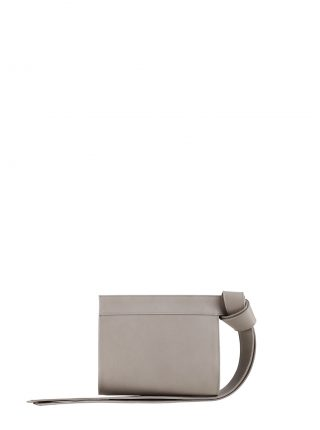 TAPE XS clutch bag in grey calfskin leather | TSATSAS