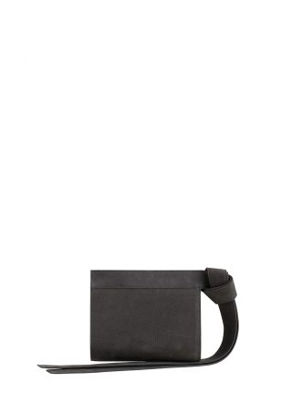 TAPE XS clutch bag in black grey nubuck leather | TSATSAS