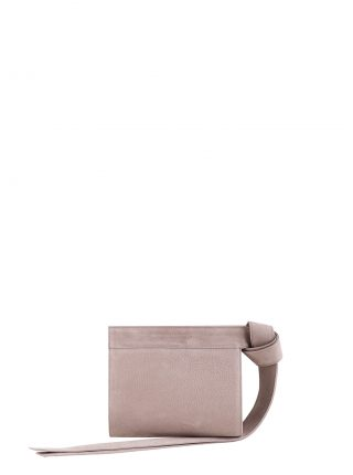 TAPE XS clutch bag in blush pink nubuck leather | TSATSAS