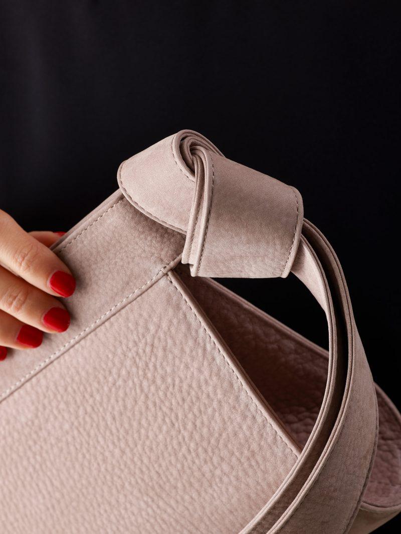 TAPE XS clutch bag in blush pink nubuck leather | TSATSAS