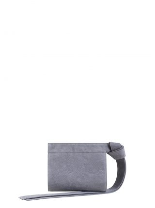 TAPE XS clutch bag in medium grey nubuck leather | TSATSAS