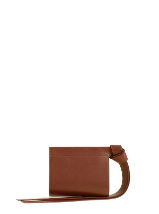 TAPE XS clutch bag in tan calfskin leather | TSATSAS