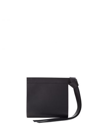 TAPE clutch bag in black calfskin leather | TSATSAS