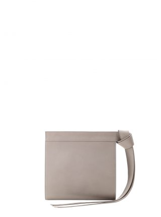 TAPE clutch bag in grey calfskin leather | TSATSAS