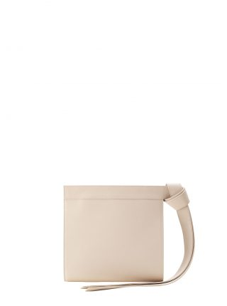 TAPE clutch bag in ivory calfskin leather | TSATSAS