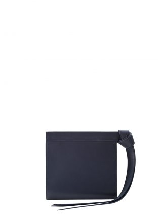 TAPE clutch bag in navy blue calfskin leather | TSATSAS