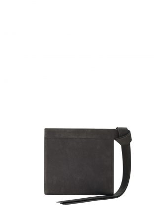 TAPE clutch bag in black grey nubuck leather | TSATSAS