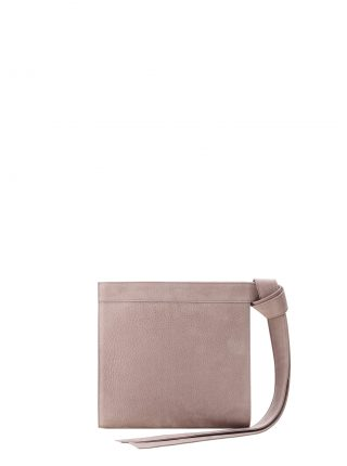 TAPE clutch bag in blush pink nubuck leather | TSATSAS