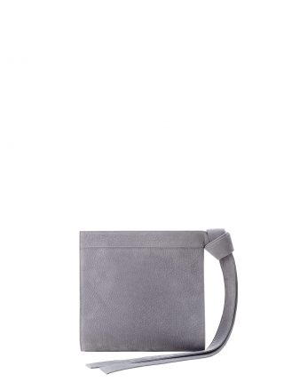 TAPE clutch bag in medium grey nubuck leather | TSATSAS
