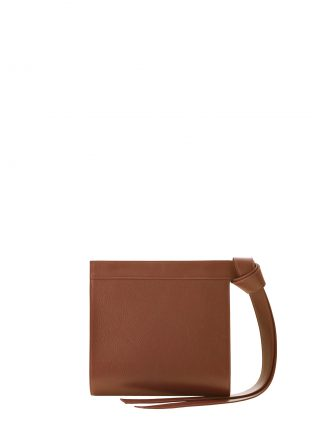 TAPE clutch bag in tan calfskin leather | TSATSAS
