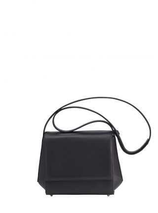 TURIN shoulder bag in black calfskin leather | TSATSAS