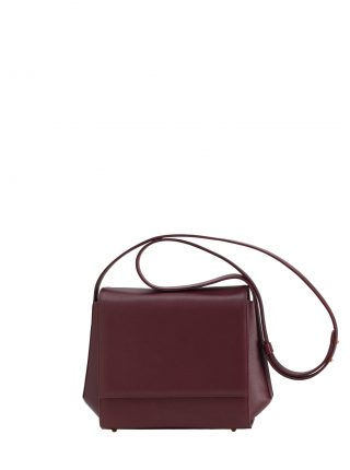 TURIN shoulder bag in burgundy calfskin leather | TSATSAS