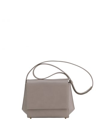 TURIN shoulder bag in grey calfskin leather | TSATSAS
