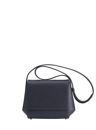 TURIN shoulder bag in navy blue calfskin leather | TSATSAS