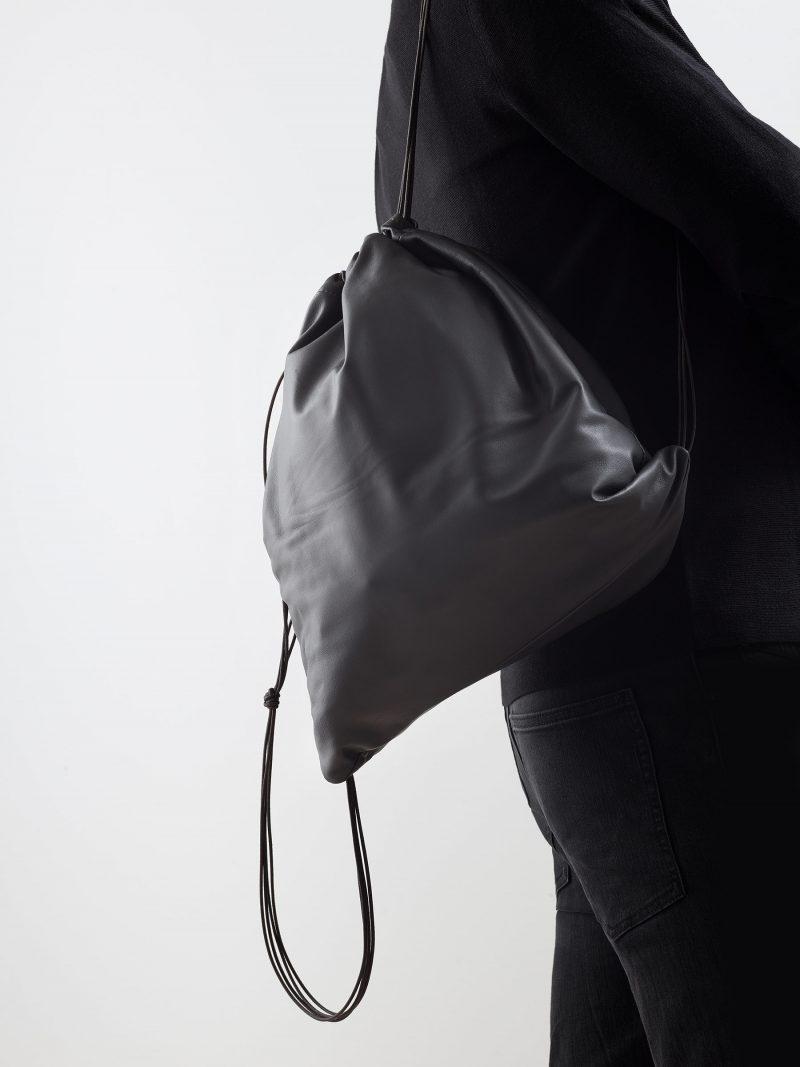 XELA backpack in anthracite lamb nappa leather | TSATSAS