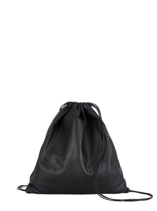 XELA backpack in black lamb nappa leather | TSATSAS