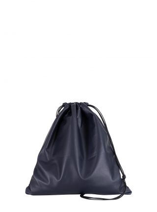 XELA backpack in navy blue lamb nappa leather | TSATSAS
