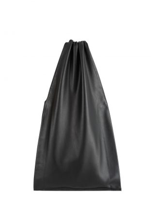 LATO tote bag in black lamb nappa leather with lining in black | TSATSAS