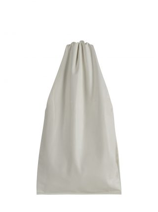 LATO tote bag in off-white lamb nappa leather with contrasting lining in black | TSATSAS