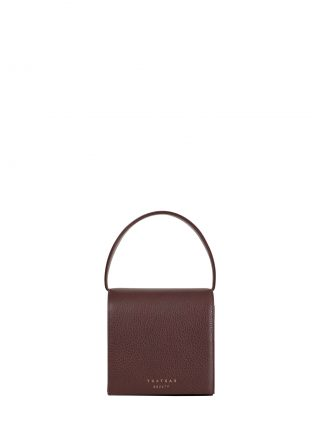 MALVA 2 hand bag in burgundy calfskin leather | TSATSAS